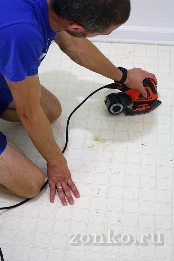 Очистить поверхность от лакокрасочного покрытия